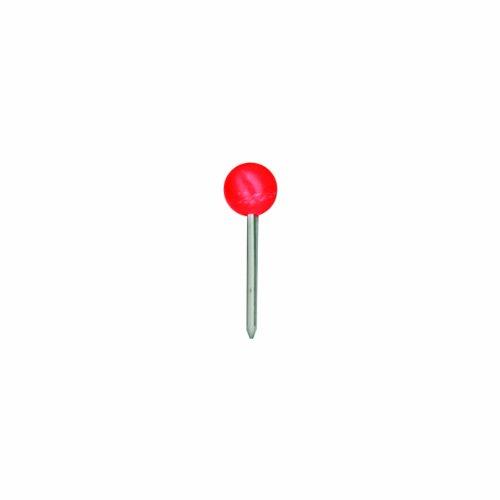 Round Head Map Tacks (ADVANTUS Medium Head Map Tacks, 3/8-Inch Shank, 3/16-Inch Head, Box of 100, Red (M02))