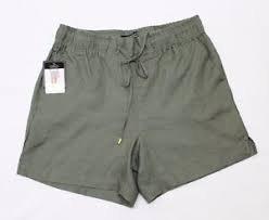 Ellen Tracy Womens Drawstring Waist Linen Shorts, Caper XL ()