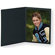 Black Photo Folder for 5x7/4x6 (Pack of 100) Cut corners by MALELO AND COMPANY (Image #1)