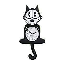 Felix The Cat 3D Motion Wall Clock, Cat Lovers Collection Gift.