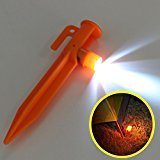 5 x 15cm Practical Outdoor Tent Pegs LED Camping Lights Trip Survival Accessory