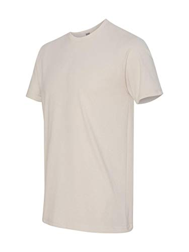 Next Level Men's Premium Fitted Sueded Crew, Sand, Large