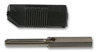 PLUG SCREW 1 piece DELTRON 553-0100-01 BANANA BLACK 16A