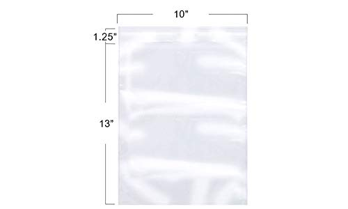The Elixir Packaging 10 x 13 inch 100 Poly Bag Clear Resealable Shipping Bags, Meets USDA FDA Standards