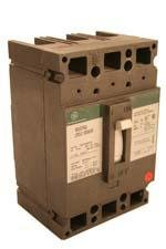 GE TED136150 molded case, thermal magnetic, e frame, 600 vac, 500 vdc, 150 ampere, 3 pole, interrupting rating 18 kiloampere at 240/480 vac, 14 kiloampere at 600 vac, 10 kiloampere at 250/500 vdc (ul), terminal aluminum/copper line lug, load lug by GE