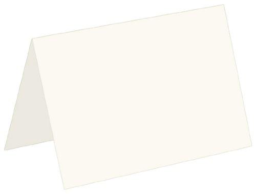 100lb A2 Fold Card 4 1/4 x 5 1/2 - Ecru, 50 pack