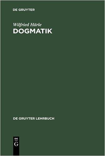 Book Dogmatik (De Gruyter Lehrbuch)