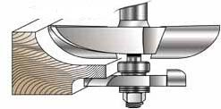 MLCS Raised Panel Router Bit with Undercutter: Cove Profile