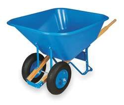 Westward 2MVU8 Wheelbarrow, Cap 10 Cu-Ft, Poly-Resin
