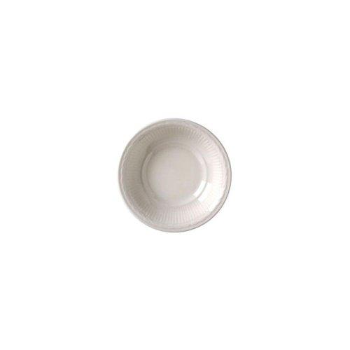 Vertex China Windsor Sculptured Rim Design Undecorated Bone White Fruit Bowl, 5 inch -- 36 per - Windsor Rim