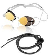 Swedes Swedish Goggles with Bungee Strap (Gold Mirror)