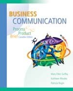 Business Communication : Process and Product Brief Canadian Edition