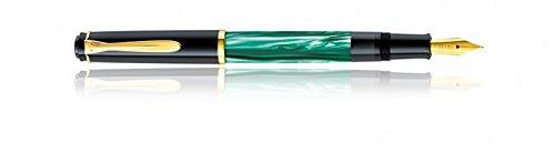 Pelikan Classic M200 Piston Fountain Pen Black-Green marble - Nib F