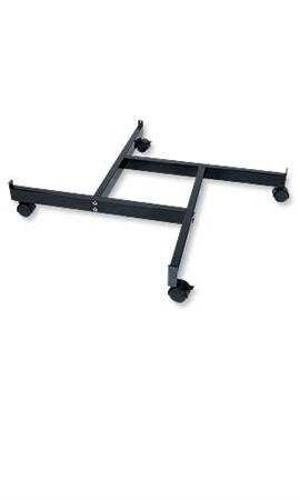 """Black 4-Way Grid Base with Casters (Use with existing 3"""" on Center Wire Grid Panels)"""