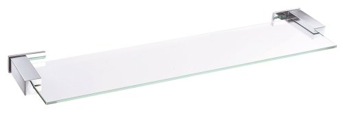 Danze D446135 Sirius Glass Shelf, 24-Inch, Chrome (House Bathroom Shelf Glass)