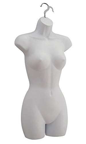 Female Molded Frosted Shapely Form with Hook - Fits Womens Sizes 5-10