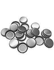 (New Beer Bottle Caps Oxygen Absorbing Seal Silver Crown Caps for Home Brew or Crafts 144 Pieces)