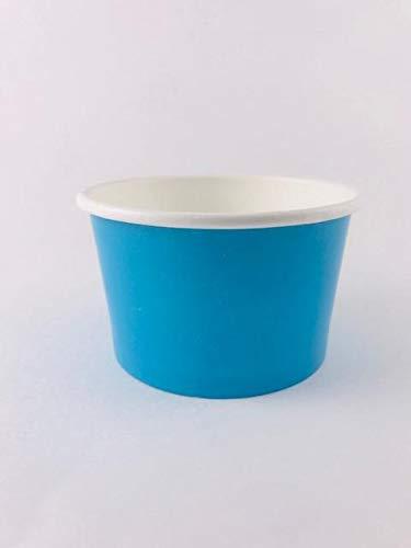 Ice cream paper cups 4 oz. (Case Of 1000 pcs BLU ) Perfect For Eating Frozen Desserts, Ice Cream, Frozen Yogurt, Cereal, Hot Soups, Yogurt