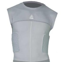 McDavid Hexpad Hexmesh Sleeveless 3 Pad Compression Body Shirt, Grey, X-Large (Mcdavid Hexpad Body Shirt)