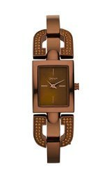 DKNY Glitz Brown Mother-of-Pearl Dial Women's Watch #NY8468