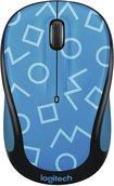 Blue Mouse Optical 3 Button (Logitech M325c 3-Button Wireless USB Optical Scroll Mouse w/Tilt Wheel - Light Blue)