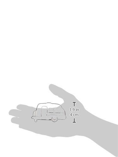 21HsoEAMdcL Städter Wohnwagen 8 cm, Edelstahl, Silber, 8 x 4 x 1 cm
