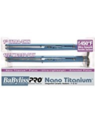 BABYLISS PRO Nano Titanium 1 Inch Ultra Thin Flat Iron Co...