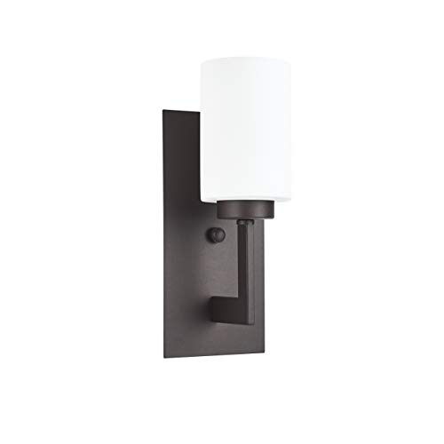 - Brio Wall Sconce Light Fixture | Dark Bronze Bathroom Wall Fixtures LL-WL151-DB