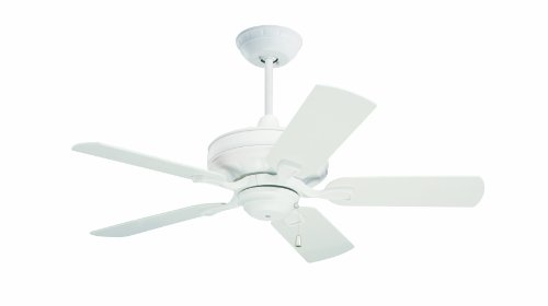 Emerson Ceiling Fans CF442SW Bella Indoor Ceiling Fan, 42-Inch Blades, Light Kit Adaptable, Satin White Finish (Emerson Indoor Fans)