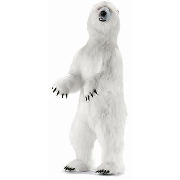 Hansa Life Size Standing Polar Bear Plush Stuffed