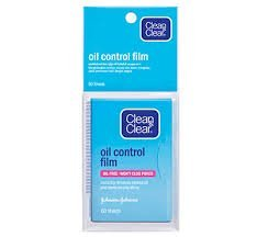 Clean & Clear Oil Control Film Blotting Paper, Oil-absorbing Sheets for Face, 60 Sheets (Pack of 2)