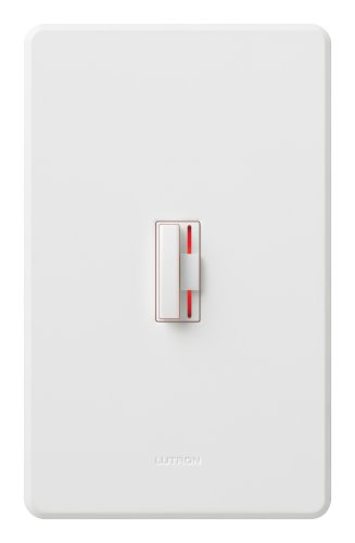 (Lutron CN-603PHW-WH Ceana 3-Way 600W Preset Dimmer with Wallplate, White)