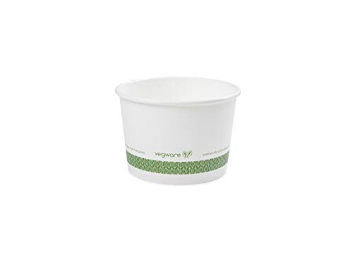 BIOZOYG one-way Bio soup cup soup To Go disposable dishes I corrugated kraft board with PLA coating on the inside white//brown unbleached I 25 single-use beakers compostable 375 ml