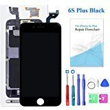Black for iPhone 6s Plus Screen Replacement with 3D Touch - LCD Display Touch Digitizer Frame Assembly Set for iPhone 6s Plus 5.5 inch, Free Tools Kit Included
