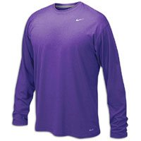 Nike 384408 Legend Dri-Fit Long Sleeve Tee - Purple Large