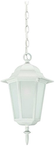 Acclaim 6116TW/FR Camelot Collection 1-Light Outdoor Light Fixture Hanging Lantern, Textured White