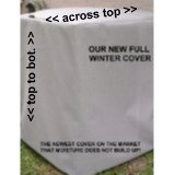 HeavyDuty Beathable Tight Mesh Winter Full Air Conditioner Cover - 28x28x28Ht - Gray by PremierAcCovers (Image #1)
