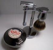 Merkur Shave Set With 38C Long Handle Barber Pole Razor +...
