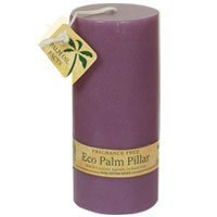NEW! Aloha Bay Eco Palm Wax Candles Violet 2 1/4 x 5 Unscented (Palm Pillar Candle)