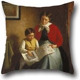 The Oil Painting Platt Powell Ryder - The Illustrated Newspaper Cushion Covers Of ,18 X 18 Inches / 45 By 45 Cm Decoration,gift For Kids Room,home Theater,bedding,car,bench,home (twice Sides)