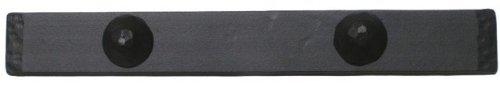 Agave Ironworks Smooth Iron Dummy Hinge Strap, 30'', Flat Black Finish