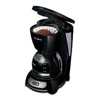 Mr. Coffee TF7-RB 5 Cup Coffeemaker, Black