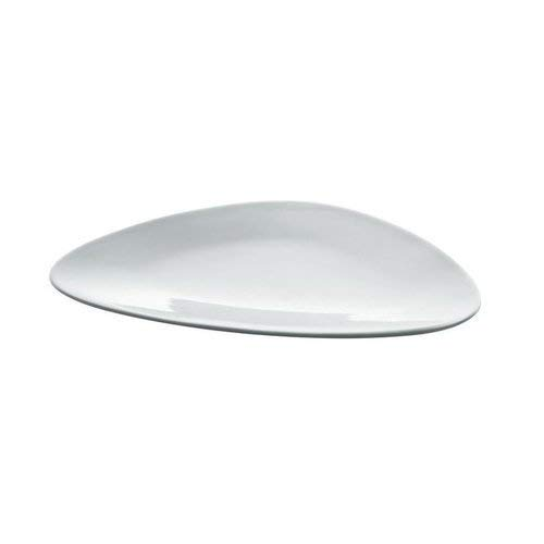 Alessi Colombina 12-1/4-Inch by 10-3/4-Inch Flat Plate, White Porcelain, Set of 6