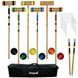 Juegoal Upgrade Six Player Croquet Set for Adults Kids Family with Carrying Bag