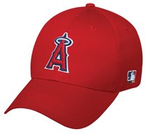 MLB ADULT Los Angeles ANGELS Home RED Hat Cap Adjustable Velcro TWILL