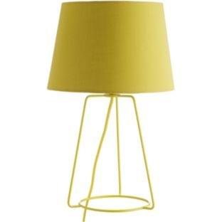 Amazon.com: Habitat Lula Metal Table Lamp - Yellow ...