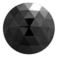 Stained Glass Jewels – 20mm Round Faceted – Black