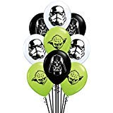 Qualatex Star Wars Faces Assortment Biodegradable Latex Balloons, 5-Inches ()
