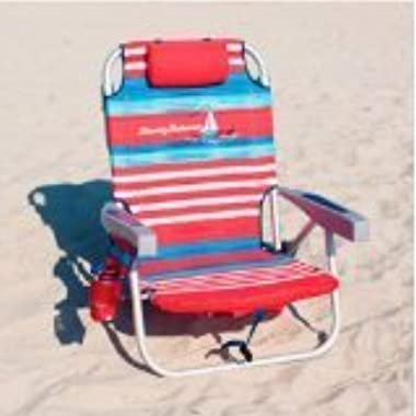 Tommy Bahama 2015 Backpack Cooler Chair with Storage Pouch and Towel Bar, Stripe