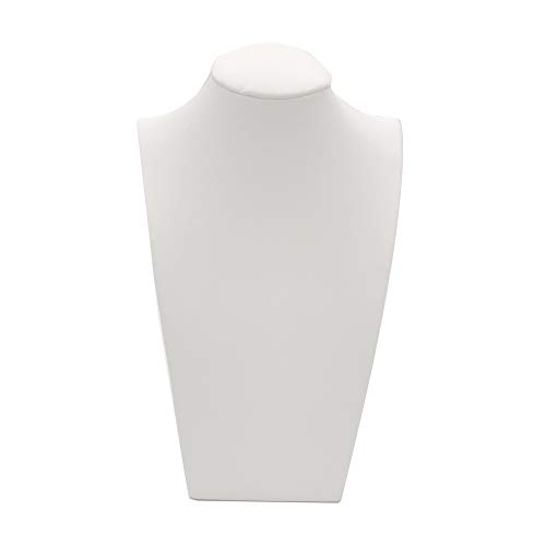 White Leather Necklace Bust Jewelry Display Stand Figure Jewelry Display Stand -